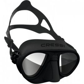 CRESSI-SUB Calibro Black/Black Silicone Mask with HD Mirror Lens