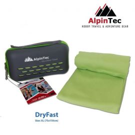 ALPINTEC Dryfast XL Towel 75x150cm Green