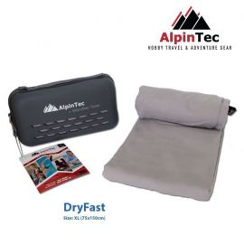 ALPINTEC Dryfast XL Towel 75x150cm Grey