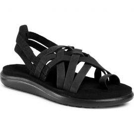 TEVA Voya Strappy Leather Black
