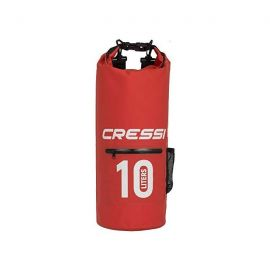 CRESSI Dry Bag Red With Zip 10lt