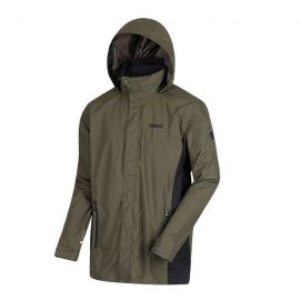 ΤΖΑΚΕΤ REGATTA Mens Telmar II Microfleece Waterproof Hooded 3 in 1 Jacket Khaki/Black