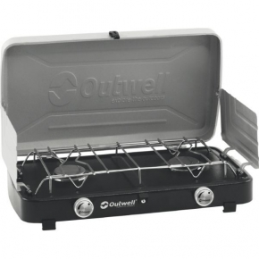OUTWELL CHEF COOKER Deluxe 2-Burner stove w/Lid & Windshield