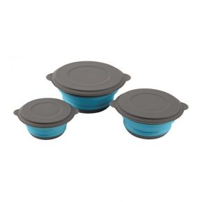 ΣΕΤ ΜΠΩΛ EASY CAMP Clearwater Foldable Bowl Set w. lids