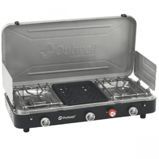 ΕΣΤΙΑ ΜΑΓΕΙΡΕΜΑΤΟΣ OUTWELL Chef Cooker 3-Burner Stove w/Grill