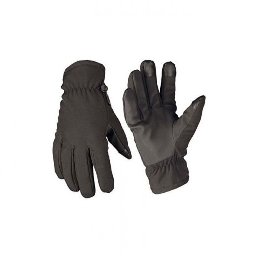 MIL-TEC Softshell Gloves Thinsulate Black