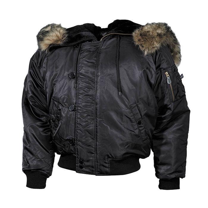 ΜΠΟΥΦΑΝ MFH Hooded Jacket N2B Polar Black - Hobbi.gr  c4e73d458e7