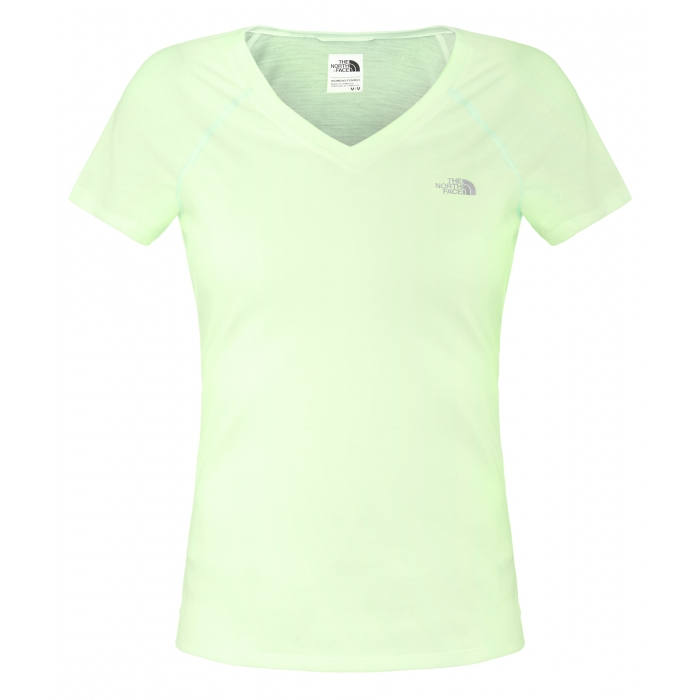 TheNorthFace W S/S Reaxion V-Neck Green