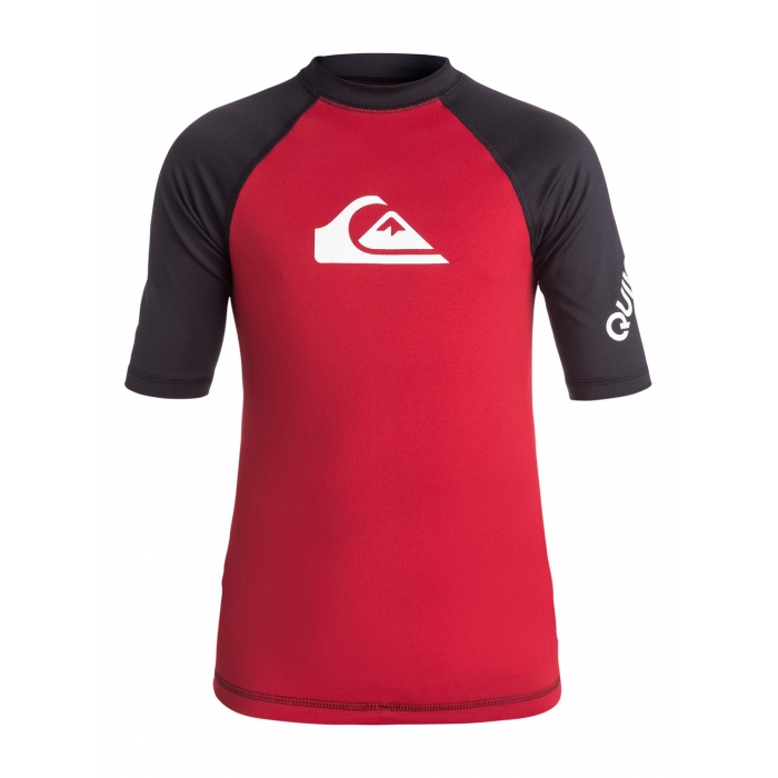 RASHGUARD QUIKSILVER Boys  8-16 All Time Hawaiian  Red/Black