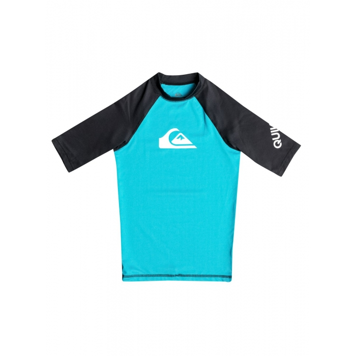 RASHGUARD QUIKSILVER Boys  8-16 All Time Hawaiian Ocean/Black
