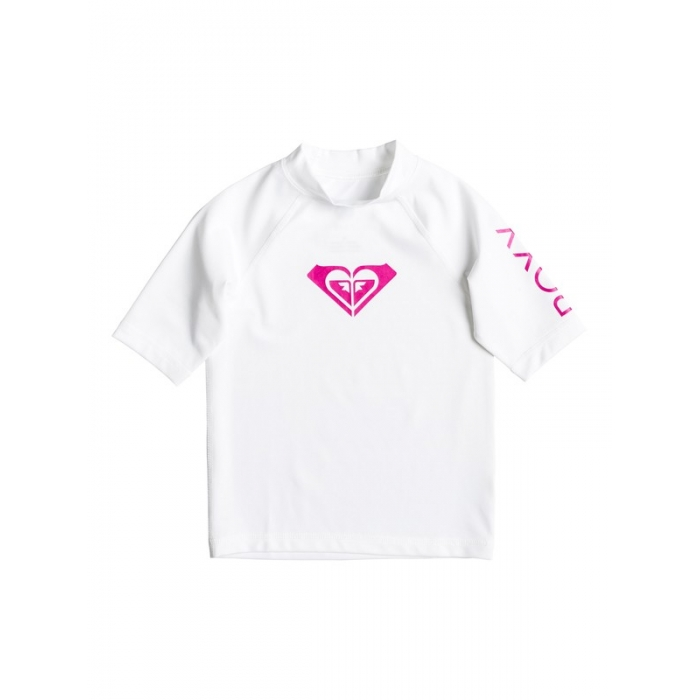 RASHGUARD ROXY Girls 2-6 Whole Hearted White