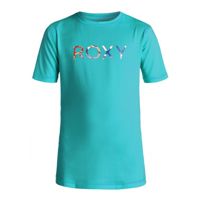 RASHGUARD ROXY Girls 7-14 Palms Away Dark Jade