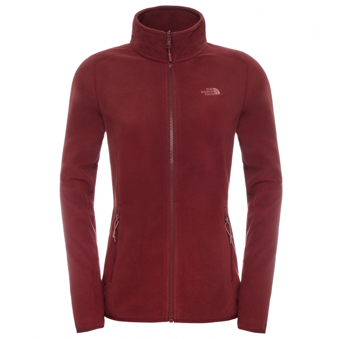 ΖΑΚΕΤΑ FLEECE TheNorthFace M100 Glacier Full Zip Women's Red
