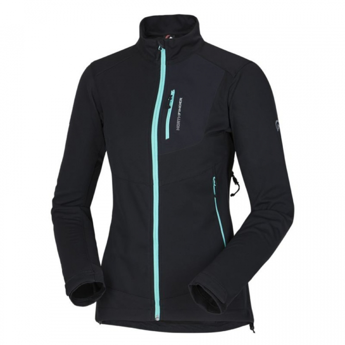 ΖΑΚΕΤΑ SOFTSHELL NORTHFINDER Women's Channel Black